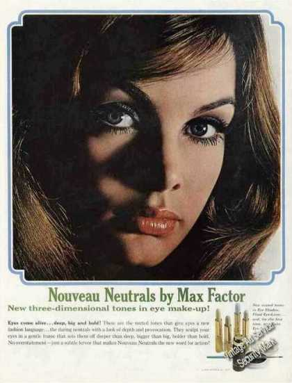 Nouveau Neutrals By Max Factor Beautiful Woman (1965)