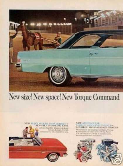 Rambler Classic Car Ad 2 Page (1965)