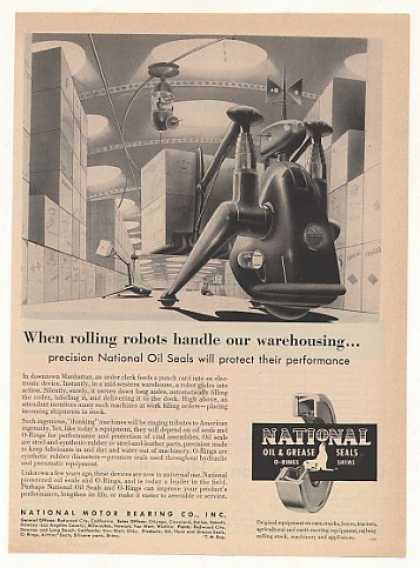 Futuristic Warehouse Robots National Oil Seals (1953)