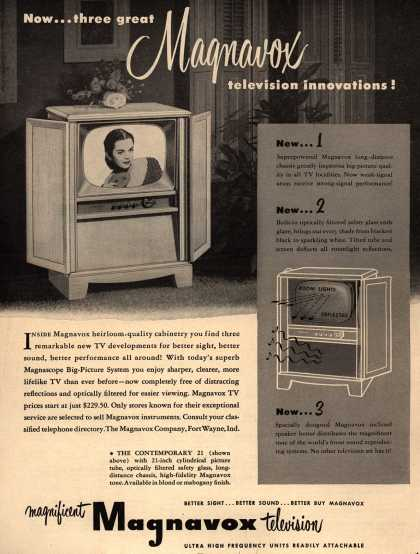 Magnavox Company's Television – Now... three great Magnavox television innovations (1952)