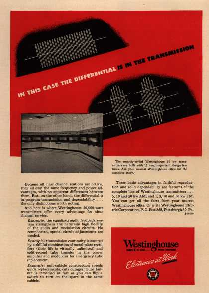 Westinghouse Electric Corporation's Various – In This Case the Differential is in the Transmission. (1946)