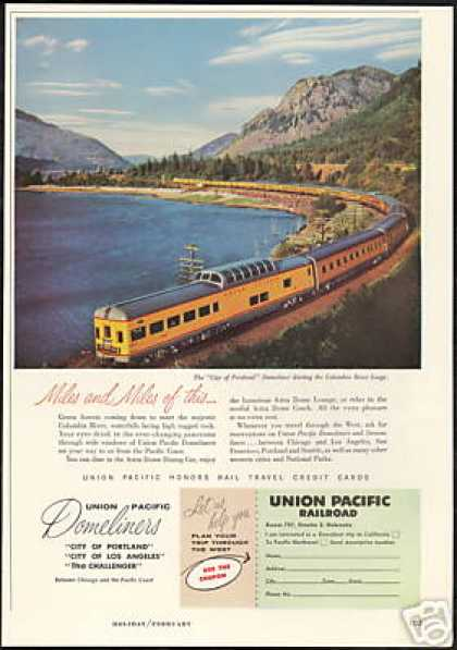 Union Pacific Railroad Train Columbia Gorge (1957)