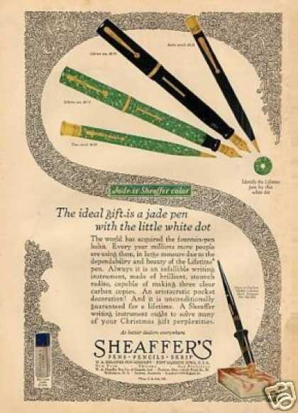 Sheaffer's Fountain Pens Color (1927)