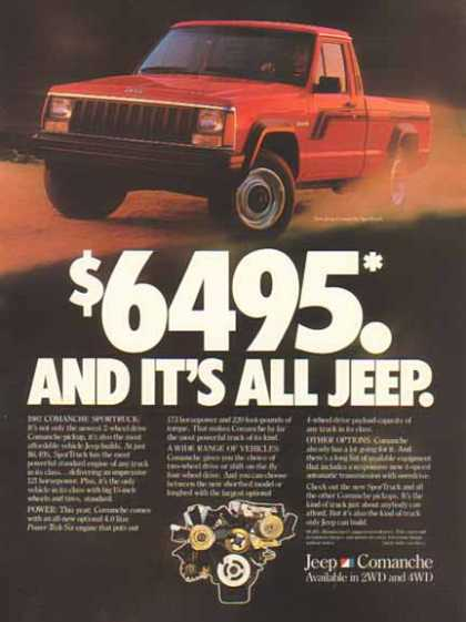 Jeep Comanche – $6495 and it's all Jeep – Sold (1987)