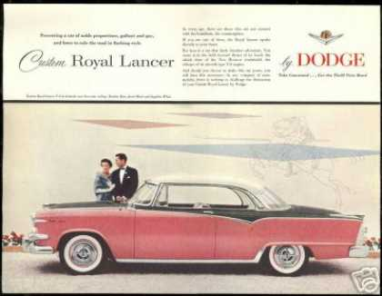 Dodge Custom Royal Lancer Pink Print Car (1955)