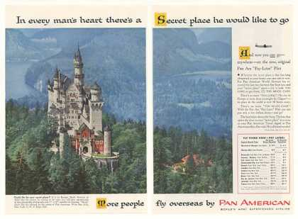 Pan Am Airlines Secret Castle Photo 2-Page (1955)