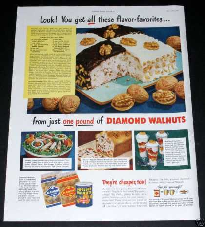 Diamond Walnuts, Favorites (1949)