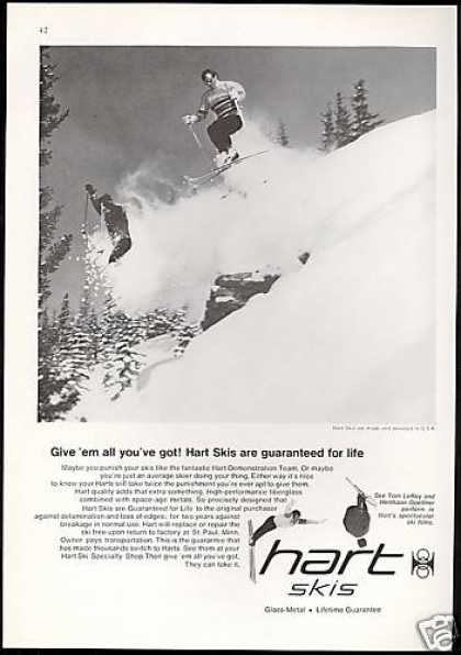 Hart USA Snow Ski Skier Photo (1969)