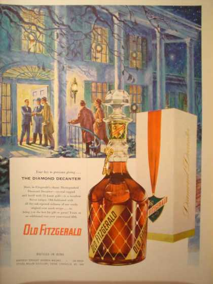 Old Fitzgerald Whiskey The Diamond Decanter (1953)
