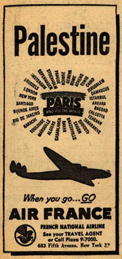 French National Airline's Palestine – Palestine (1948)