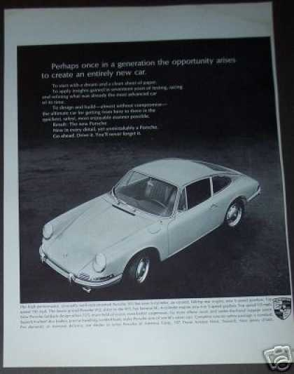 Porshe 911 Original Car Photo (1965)