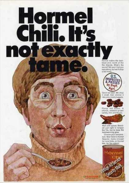 "Hormel Chili ""It's Not Exactly Tame"" (1971)"