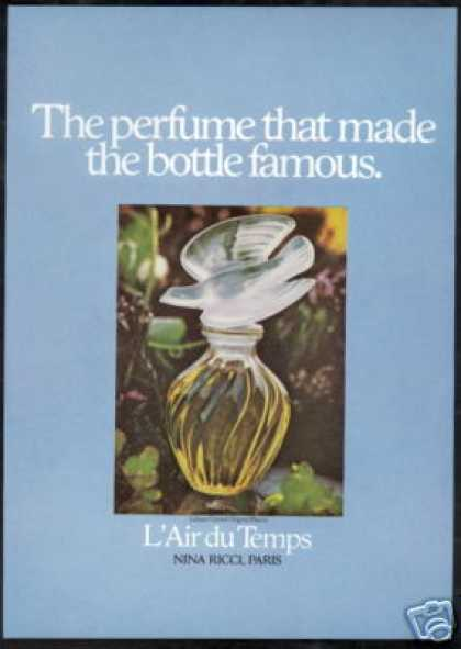 Nina Ricci Perfume Lalique Falcon Photo (1975)