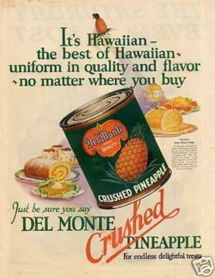 Del Monte Crushed Pineapple (1927)