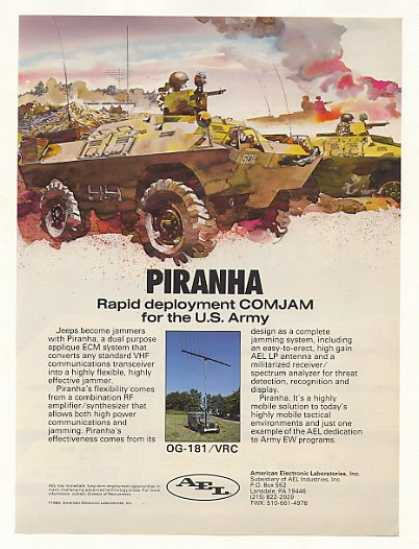 US Army AEL Piranha ECM Jammer (1986)