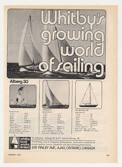 Whitby Alberg 30 37 45 Sailboats Boat (1971)