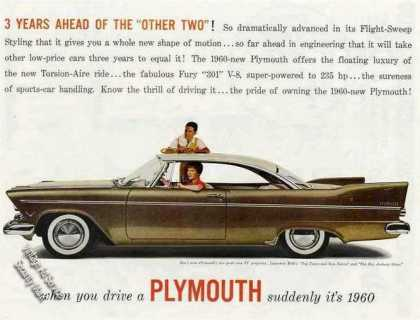 "Plymouth ""3 Years Ahead"" Nice Glamour Photo (1957)"