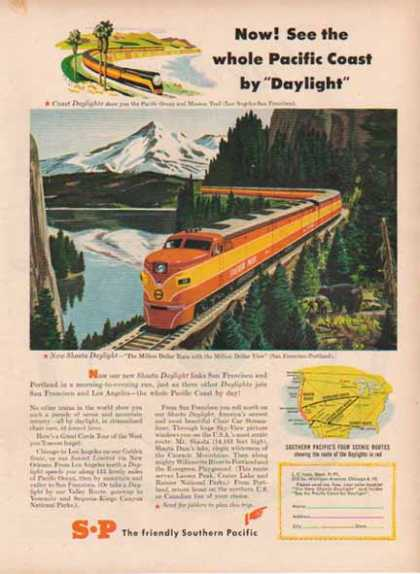 Southern Pacific Railroad – San Francisco to Portland (1949)