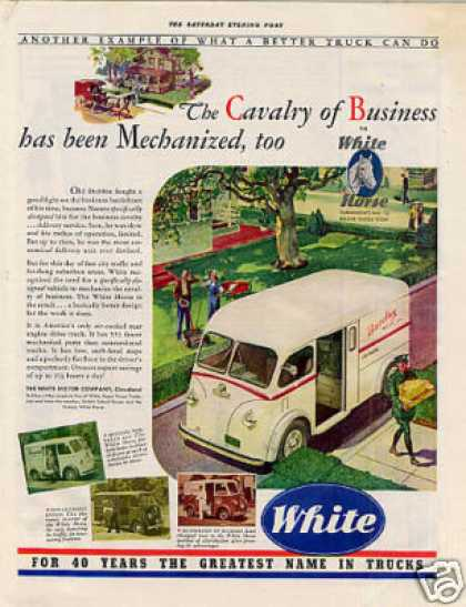 White Truck Ad Barclay Inc. (1941)