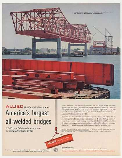 Interstate Rt 65 Bridge Ohio River Allied Steel (1963)