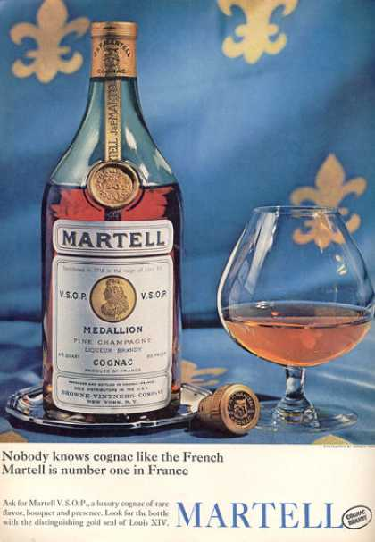 Martell Medallion Cognac Champagne Bottle (1963)