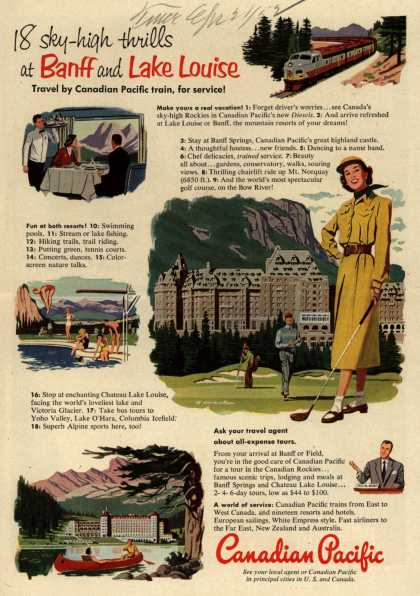 Canadian Pacific's Banff and Lake Louise – 18 sky-high thrills at Banff and Lake Louise (1952)