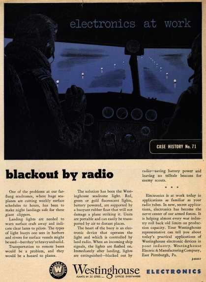 Westinghouse Electric & Manufacturing Company's Corporation – electronics at work, blackout by radio (1943)