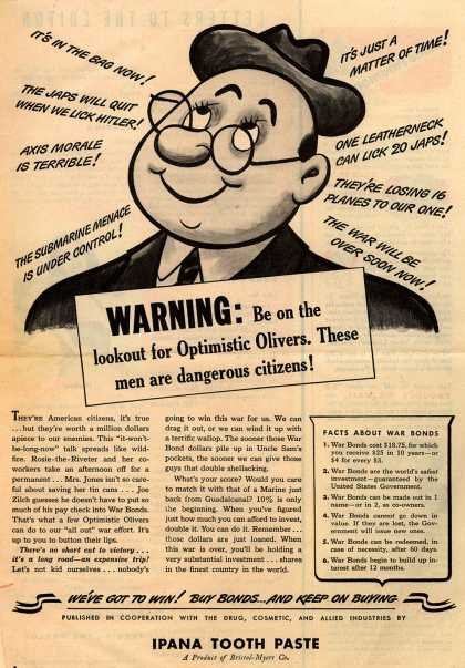 U. S. Government's War Bonds – Warning: (1943)