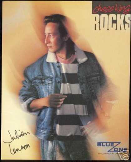Julian Lennon Photo Chess King Fashion Vintage (1987)