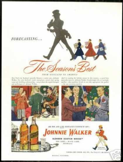 Johnnie Walker Scotch Scotland USA Holiday (1948)