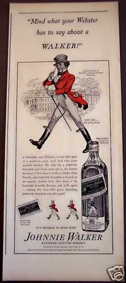 Palace of Hollyrod House Johnnie Walker Whisky (1939)