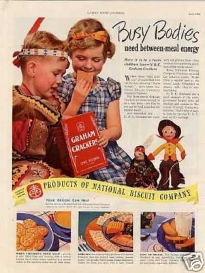 "Nabisco Graham Crackers Ad ""Busy Bodies... (1938)"