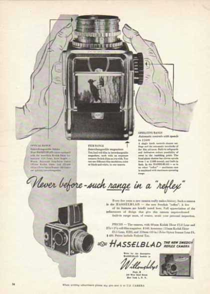 Hasselblad Camera – The New Swedish Reflex Camera (1951)
