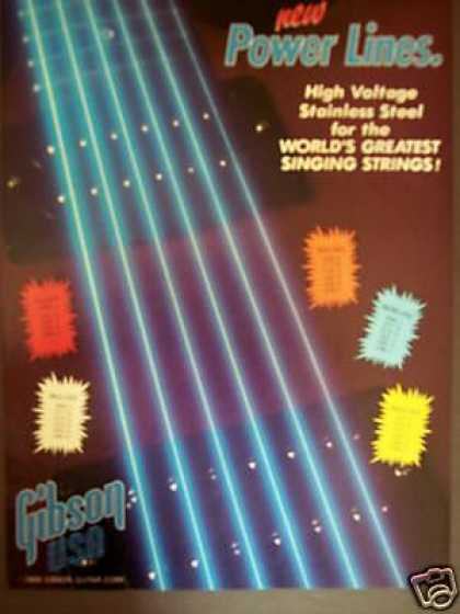 Gibson Power Lines Guitar Strings Art (1986)