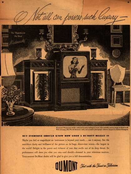 Allen B. DuMont Laboratorie's Radio Phonograph Television – Not all can possess such luxury... (1948)