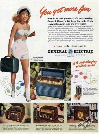 General Electric Portable Radio Monica Lewis (1947)