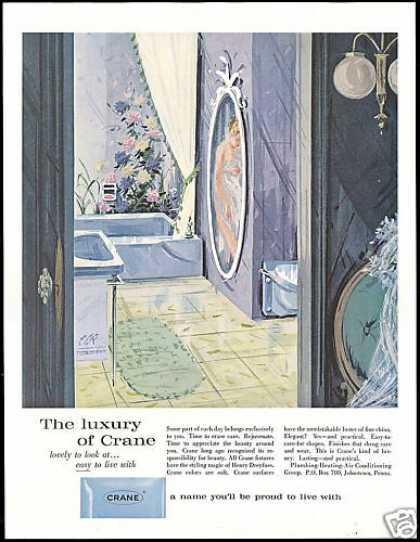 Crane Bathroom Plumbing Fixtures Art (1960)