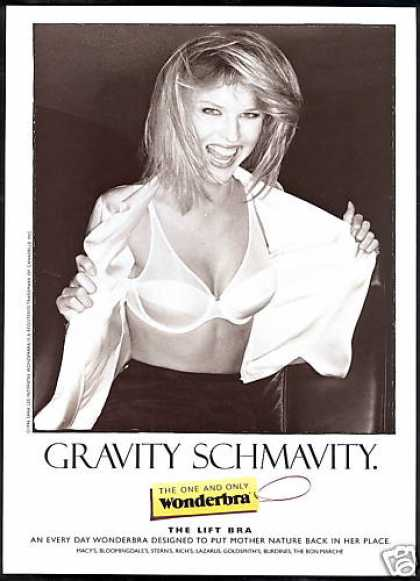 Wonderbra Bra Lingerie Gravity Schmavity (1997)