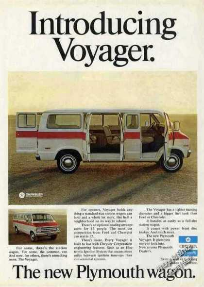Plymouth Voyager Photos Introductory Wagon (1974)