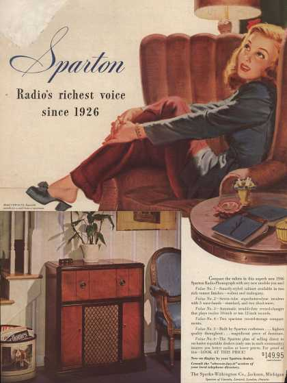 Sparks-Withington Co.'s Various – Sparton: Radio's riches voice since 1926 (1946)