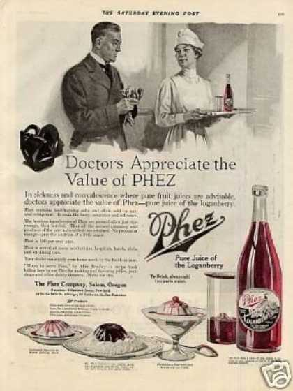Phez Loganberry Juice Color (1919)