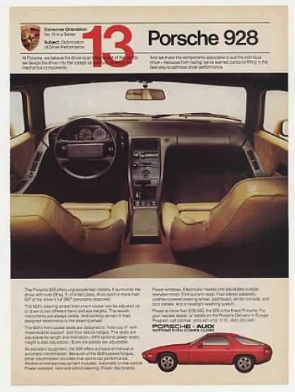 Porsche 928 Optimization Inside Photo (1982)