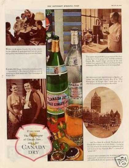 Canada Dry Ginger Ale Color (1936)