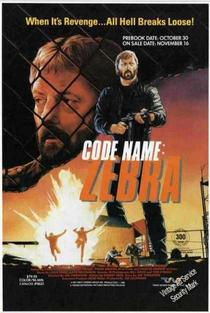 Code Name: Zebra Action Movie Promo (1987)