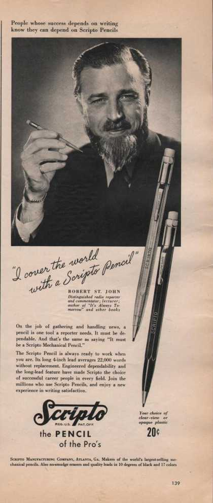 Scripto the Pencil of the Pros (1942)