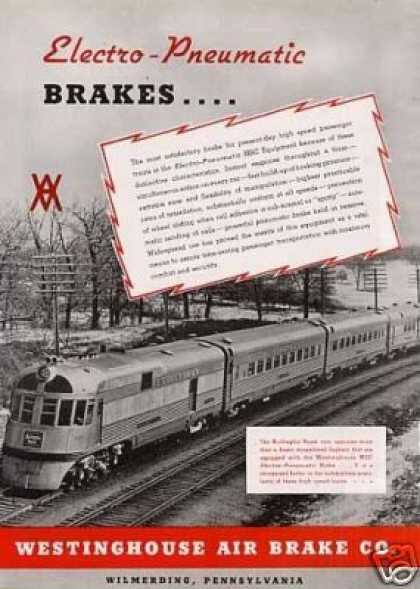 Wabco Ad Burlington (cb&q) Zephyr/hsc Brake (1941)