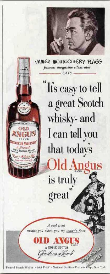 James Montgomery Flagg Old Angus Scotch (1950)