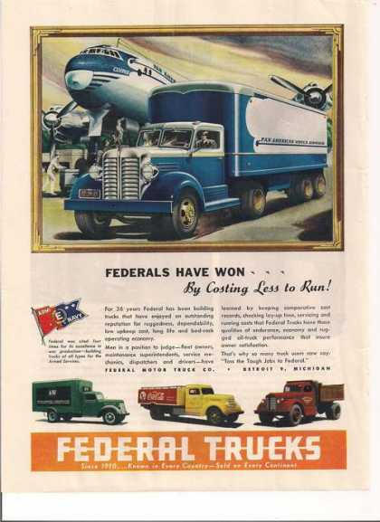 Federal Trucks Coca Cola, Pan American (1946)