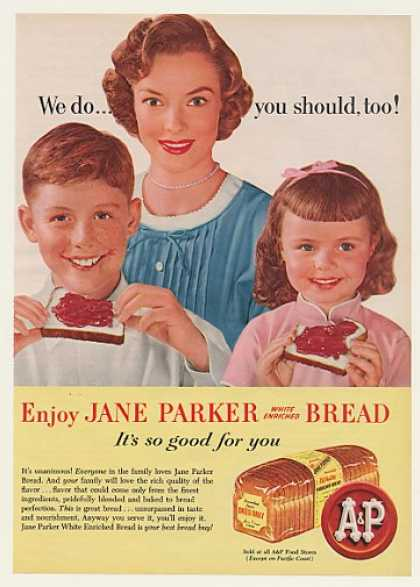 A&P Jane Parker Bread Mother Kids (1956)
