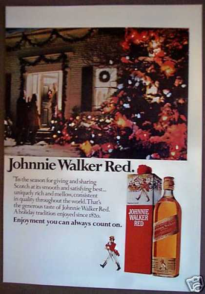 Johnnie Walker Red Scotch Whisky X-mas (1975)